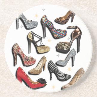High Heel Shoe Collage Sparkle Fashion Pumps Coasters