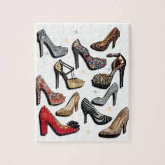 High Heel Shoe Collage Sparkle Fashion Pumps Jigsaw Puzzle