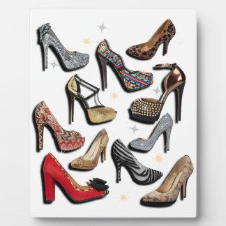 High Heel Shoe Collage Sparkle Fashion Pumps Plaque