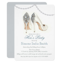 High Heel Shoe Couture Hen's Party Invitation