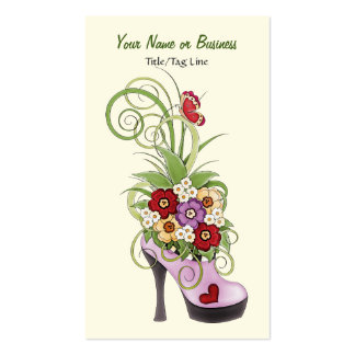 High Heel Shoe Flowers Business or Personal Card Business Card Templates
