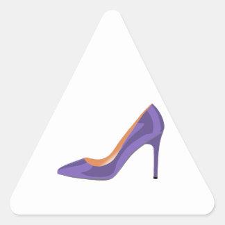 High Heel Shoe in Ultra Violet Triangle Sticker
