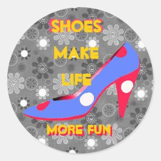 High Heel Shoe Shopping Fun Classic Round Sticker