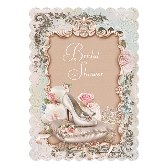 High heel shoe vintage bridal shower invitation zazzle high heel shoe vintage bridal shower invitation filmwisefo