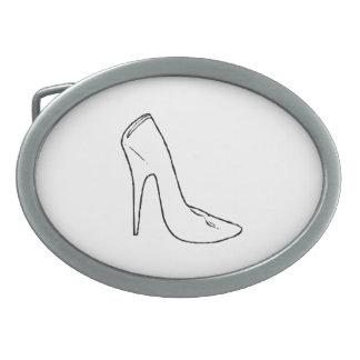 High Heel Shoes Oval Belt Buckles