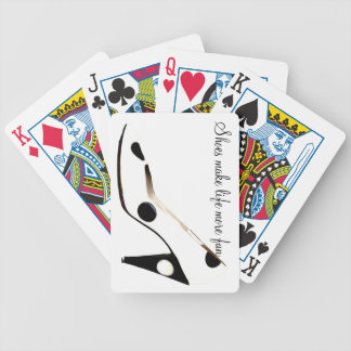 High Heel Shoes Black and White Playing Cards