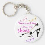High Heel Shoes Diva Basic Round Button Keychain