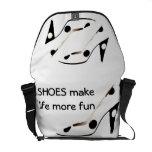High Heel Shoes Make Life More Fun Messenger Bags