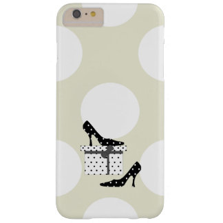 High Heel Shoes, Polka Dots, Gift Box - Black Barely There iPhone 6 Plus Case