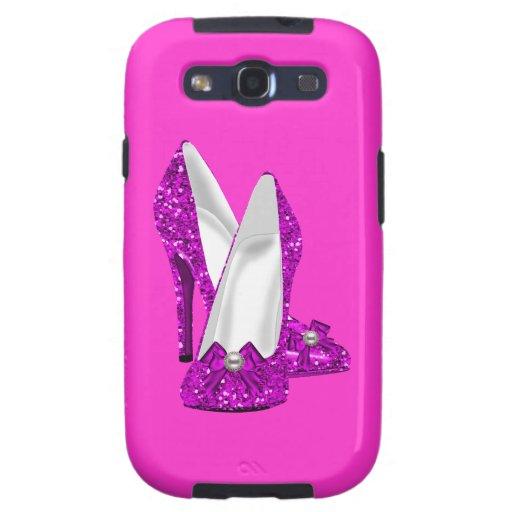 High Heel Shoes Stileto Glitter Pink Samsung Galaxy S3 Covers