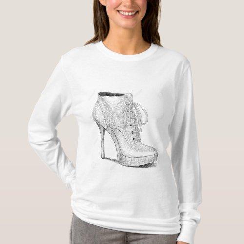 High heel shoes T_Shirt