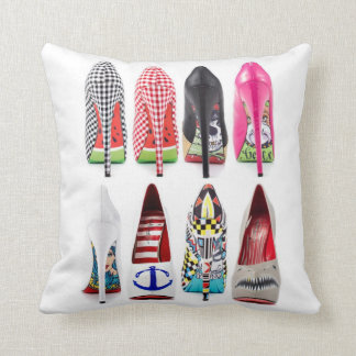 High Heel Shoes Throw Pillows