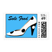 High Heel Sole Food Pun Shoe Stamps
