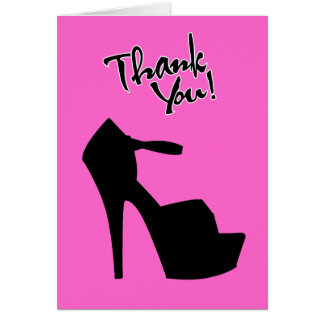 HIGH HEEL STAR - PUMP IT UP THANK YOU GREETING CARDS