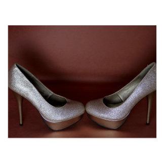 High Heeled Fashion Shoes Postcard