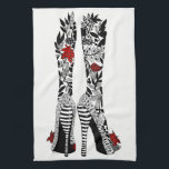 "High Heeled Shoes Kitchen Towel<br><div class=""desc"">A fun, colorful and whimsical hand-drawn and painted design named &quot;Let&#39;s Dance&quot;. This colorful kitchen towel is a perfect gift for the special person in your life or for yourself and is sure to brighten up any kitchen. I hope it makes you happy . . . that is my goal...</div>"