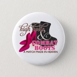 High Heels and Combat Boots (Black) Button