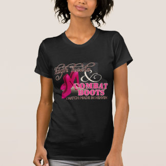 High Heels and Combat Boots (Black) Tee Shirts