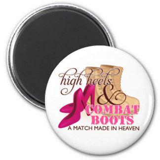 High Heels and Combat Boots (Desert) Magnet