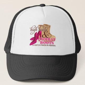 High Heels and Combat Boots (Desert) Trucker Hat