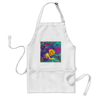 High heels and flower adult apron