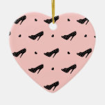 High Heels and Hearts Christmas Ornament