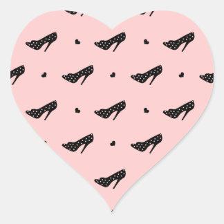 High Heels and Hearts Heart Sticker