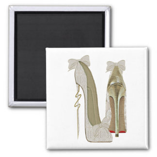 High Heels Lace and Bows Stiletto Shoes Art Magnet
