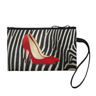 high heels red coin purse