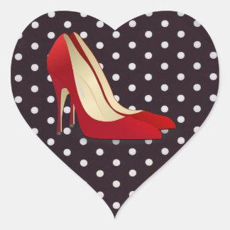 high heels red heart sticker