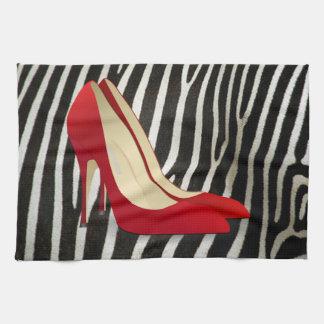high heels red kitchen towel