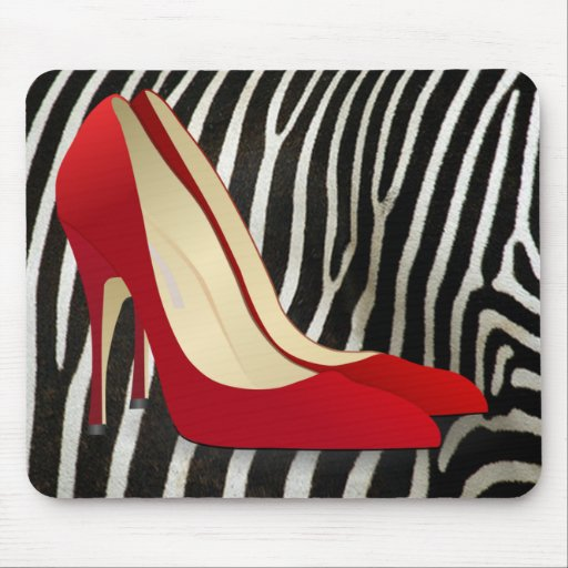 high heels red mousepad