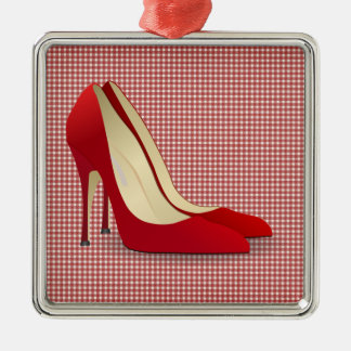 high heels red ornament