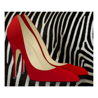 high heels red poster