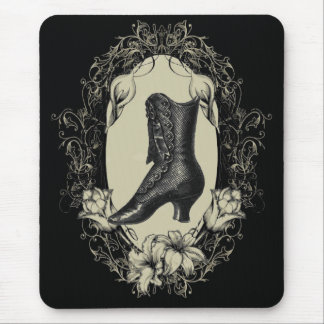 high heels shoe lover black floral victorian mouse pad