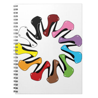 High_Heels_Shoe_of_Every_Color COLORFUL COLLECTION Spiral Notebook