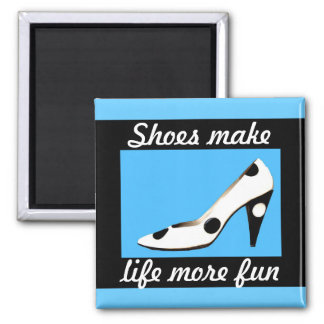 High Heels Shoes 2 Inch Square Magnet