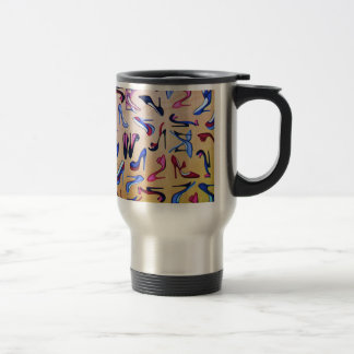 High Heels Shoes Pumps Collage Fashion 15 Oz Stainless Steel Travel Mug
