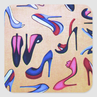 High Heels Shoes Pumps Collage Fashion Square Sticker