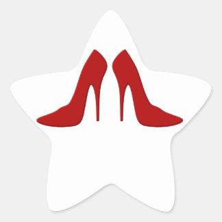 high heels star sticker