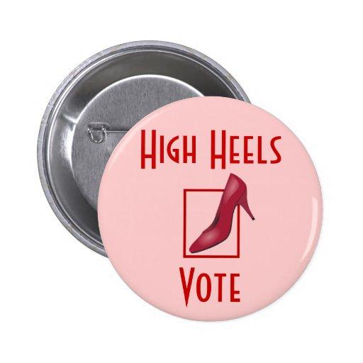 High Heels Vote 2 Inch Round Button