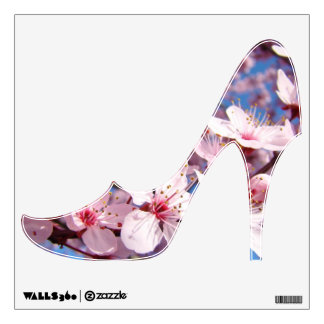 High Heels wall decals Pink Spring Blossoms