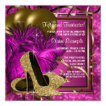 High Heels Womans Hot Pink Birthday Party Card