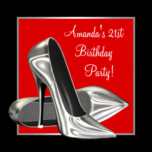 red and black 21st birthday invitations zazzle