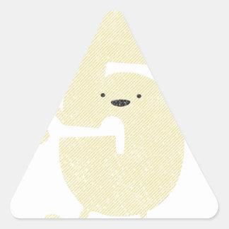 high (hi!) five triangle sticker