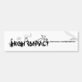 High Impact Logo 2 Bumper Sticker