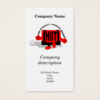 High-intensity interval training business card