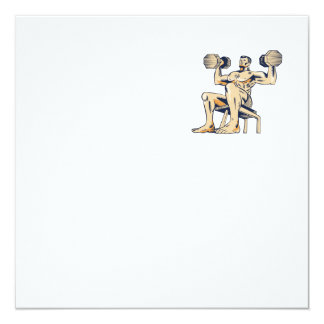 High Intensity Interval Training Dumbbell Etching Card