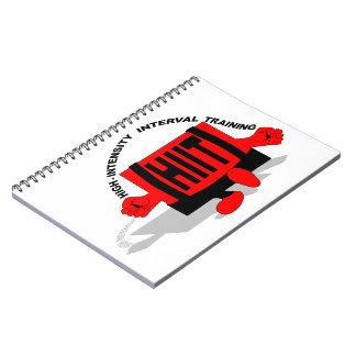 High-intensity interval training spiral notebook