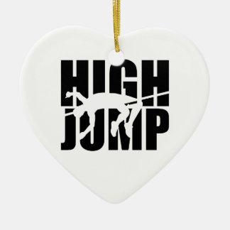 High jump ceramic ornament